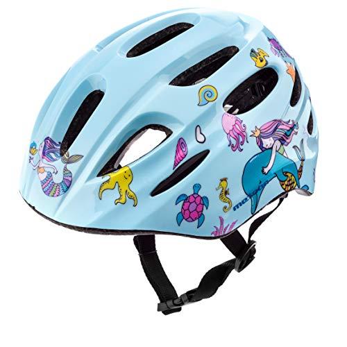 Meteor Casco Bici Ideale per Bambini Caschi Perfetto per Downhill Enduro Ciclismo MTB Scooter Helmet Ideale per Tutte Le Forme di attività in Bicicletta Helmo KS01 (XS 44-48 cm, octopus's Garden)