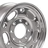 OE Wheels LLC 16 Inch Fit GMC Chevy 2500 3500 8Lug CV82 Polished 16x6.5 Rims Hollander 5079 Cap NOT Included SET