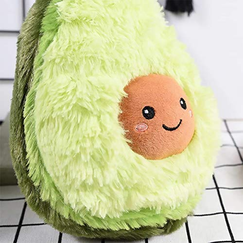 RAINBEAN Nette Avocado Plüsch Mehrere Größen Komfort Lebensmittel Kissen Spielzeug Weiche Frucht Gefüllte Kissen Squeeze Toy Dekoration für Schlafzimmer Wohnzimmer (40CM)