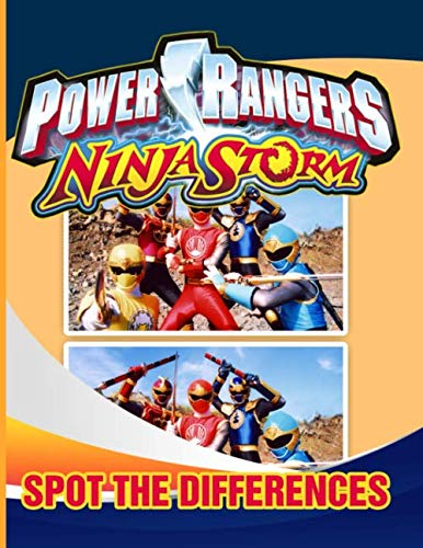 Power Ranger Ninja Storm Spot The Difference: Enchanting Power Ranger Ninja Storm Activity Find The Difference Books For Kid And Adult