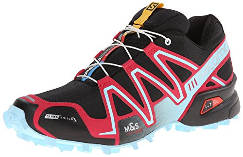 Salomon Speedcross 3 CS, Zapatillas de Trail Running para Mujer, Negro Black Lotus Pink Air, 40 2/3 EU