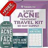 TreeActiv 2-Step Acne Treatment Travel Kit +...