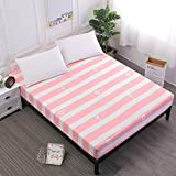 Xiaomizi Ropa de cama, cama doble, colchón antiarrugas súper suave,