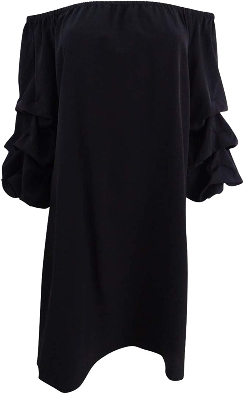 MSK Womens PuffSleeve OffTheShoulder Dress