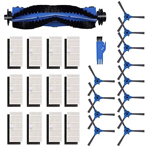 Parti di ricambio per Kyvol Cybovac E20, E30, E31 Robot Aspirapolvere, 12 Spazzola Laterale+12 Filtri+1 Spazzola Principale+1 Cutter