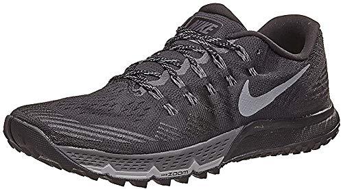 Nike Mens Air Zoom Terra Kiger 3 Running Shoes (8, Black/Dark Grey-Cool Grey-Wolf Grey)