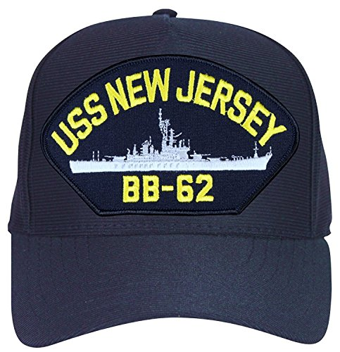 USS New Jersey BB-62 Baseball Cap. Navy Blue. Made in USA