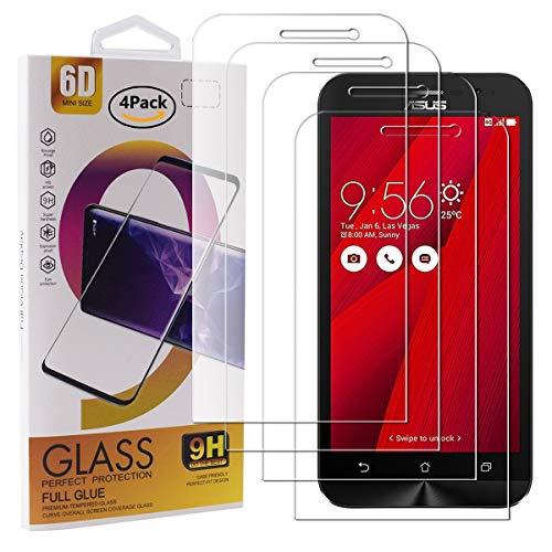 Guran 4 Paquete Cristal Templado Protector de Pantalla para ASUS Zenfone Go ZB500KL Smartphone 9H Dureza Anti-Ara?azos Alta Definicion Transparente Película