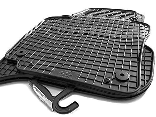 Gummimatten passend Golf 5 6 Scirocco Gummi Fußmatten Set 4-teilig schwarz Passgenau Geruchsneutral