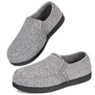 """""""V"""" elastic gores make these house shoes easier to wear and warp your feet better. You will stay in style with these attractive, fashionable slippers Coral fleece lining offers next-to-skin comfort to keep you cozy and allow your feet to breathe High..."""