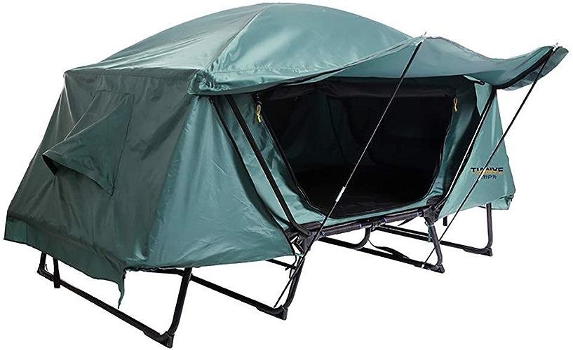 Gratuit pour Construire Multi-Fonction Lit Tente Unique étanche Loisirs De Plein Air en Plein Air Pliant Toit De Pêche De La Tente De La Terre (Vert)