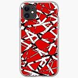 Phone Case Music Halen Guitar Van Rock Red White 80S Pattern Compatible with iPhone 12 11 Pro Max X Xr 7 6 8 Plus Xs Se 2020 Mini Case Scratch Waterproof Accessories