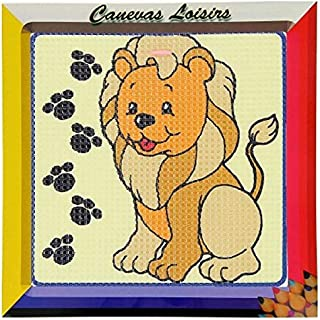 Distrifil Kit Canevas Petit Cochon 16 x 16 cm Gros Trous