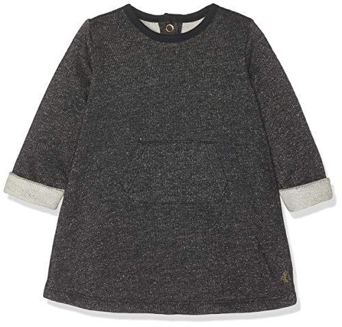 Petit Bateau Baby-Mädchen Robe ML_4431603 Kleid, Mehrfarbig (Smoking/Dore 03), 80 (Herstellergröße: 12M/74cm)