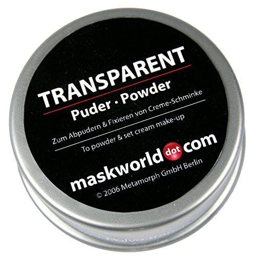 Maskworld - Make Up Puder transparent7 20g Einheitsgröße - ideal für Karneval, Halloween,...