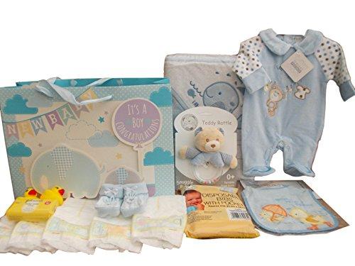 Nuovissimo con etichette. Baby Hospital Baby Shower Gift bag Bathtime asciugamano con cappuccio e tutina