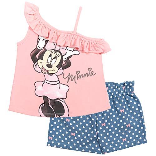 Disney Minnie Mouse Baby Girls T-Shirt & Shorts Set Light Pink 18 Months