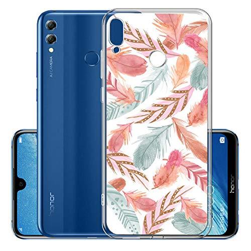 Weich Klar Transparent Glitter Sparkle für Huawei P20 Lite 2019 /Nova 5i,Durchsichtiges Ultra Dünn Slim Bling Bunte Flexible Gel Gomma TPU Silikon