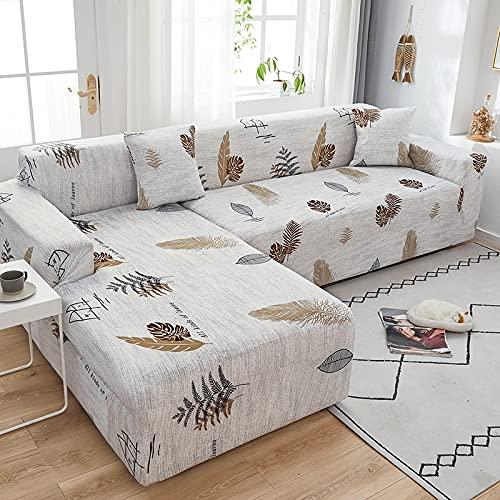 Funda de sofá elástica con Estampado de celosía de Alta Elasticidad, Fundas de sofá elásticas para Sala de Estar, Funda de sofá, decoración del hogar, A5, 4 plazas