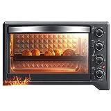 TYUIOYHZX Mini-Backofen, Haushalt Multi-Funktions-Elektro-Ofen, unabhängige Temperaturregelung, 38L...