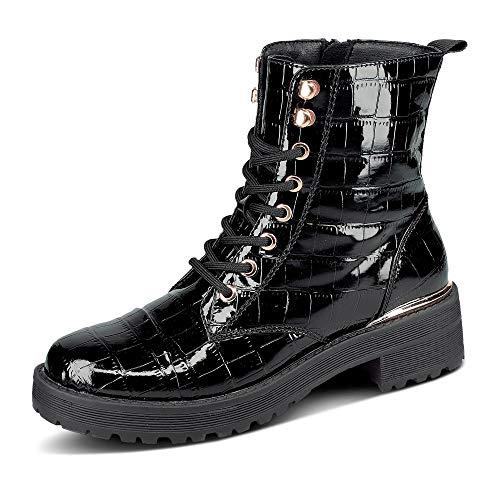 La Strada 1914881 - Damen Schuhe Stiefel - 1501-black-croco, Größe:39 EU