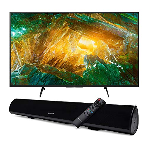 Sony XBR-X800H 49-Inch LED 4K Ultra HD HDR Android Smart TV with Knox Gear Wireless TV Soundbar with Bluetooth 5.0 Bundle (2 Items)