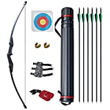 D&Q Bow and Arrow for Beginner Takedown Bow Archery Set for...