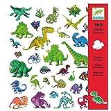 DJECO- Globos Pegatinas Dinosaurios, Multicolor (FBA_DJ08843)