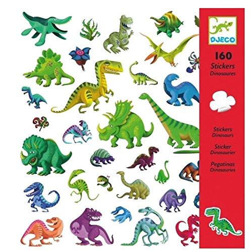 Djeco Stickers-Dinosaures Nouveauté multicolore (100)