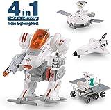 CIRO Kit de Robot Construction 4 en 1, Jouets éducatif Solaire et électricité 102 pièces