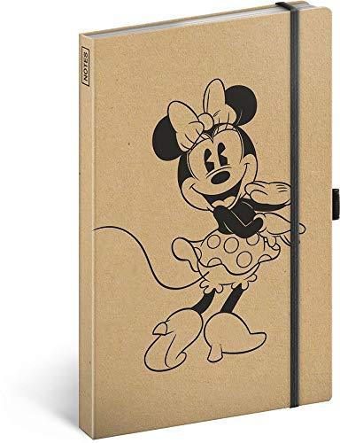 Notizbuch liniert mit Gummiband ca. A5 - Notizblock für Frauen, Mädchen, Jungen Teenager und Kinder - Schule und Büro Tagebuch Journal Notebook (Minnie Craft)
