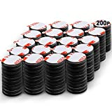 DIYMAG Ceramic Disc Magnets 200 Packs with Double-Sided Adhesive, Ceramic Industrial Magnets. Perfect for Fridge, DIY, Building, Scientific, Craft, and Office Magnets