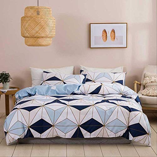 WGLG Double Bed Duvet Sets, Luxury Bedding Set Home Textile 100% Microfiber Geometry Pattern Quilt Cover Set And Pillowcase Room Decoration