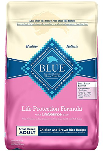 Blue Buffalo Life Protection Formula Small Breed Dog Food – Natural Dry Dog Food for Adult Dogs...