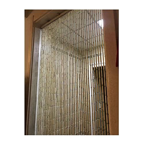YJFENG Cortina De Puerta Moldeada Bambú, Hermosa Decoración De Particiones De Cadena Colgante, Pantalla del Divisor Habitación para Puertas/Armarios, Hecho A Mano Regalos para El Hogar