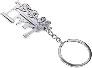 NATFUR Locomotive Train Metal Keychain Keyring Key Chain for Men Women Bag Pretty Key-Chain Cute Holder Pretty Novelty Great Fine Beauteous
