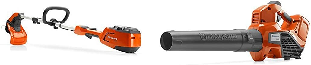 Husqvarna 115iL 40-Volt 14 in. String Trimmer and 320iB 40-Volt Handheld Blower (includes batteries and chargers)