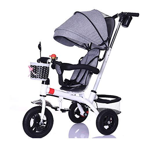 GIFT Triciclo De Niños Cochecito De Bebé Plegable Ligero con Bicicleta De Asiento Giratorio para Niños Triciclo De Tres Ruedas 3 En 1,F