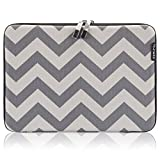 Runetz - 13-inch Chevron Gray Hard Sleeve Case Cover for MacBook Pro 13.3' with or w/Out Retina Display and MacBook Air 13' Laptop Gabbro Collection - Chevron Gray