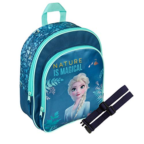 Juego de mochila infantil + correa de pecho Gurities® 26 x 30 x 12 (azul oscuro – Princesa)