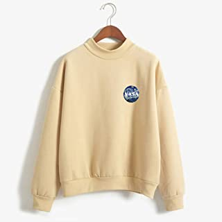 NASA Women's Pullover Sweatshirt, Cute Striped Pullover, Long Sleeve Casual Jumper Tops Blouse, Clothes Teens Girls Boys