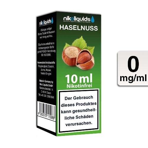 E-Liquid Nikoliquids Haselnuss nikotinfrei Flasche 10 ml