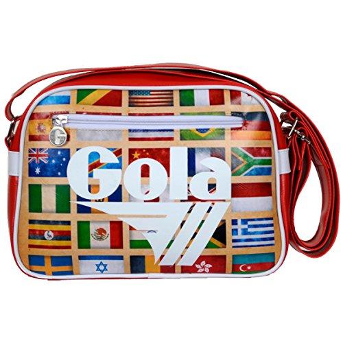 Gola Mini Redford Sacoche Sac ZCUB235RW 28 X 20 X 5,5-Dark Red/White Multi Nations