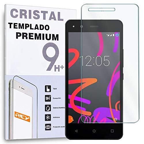 REY Protector de Pantalla para BQ AQUARIS M5 Cristal Vidrio Templado Premium