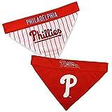 Pets First PHP-3217-L-XL MLB Philadelphia Phillies Reversible Pet Bandana, Large/X-Large, MLB Team Color