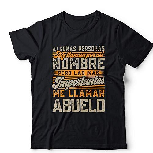 MUGFFINS Camiseta Abuelo Personas Importantes me Llaman… Regalos Divertidos con Mensajes Graciosos para Abuelitos/Hombre Mujer Manga Corta Negra L