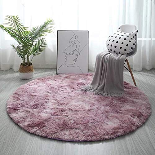 tie-dye Gradient Color Round Carpet Household Shaggy Carpet Long Hair Washable Hanging Basket Chair Yoga Rug