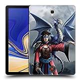 Head Case Designs Oficial Anne Stokes Mirar hacia el Este Dragon Amistad 2 Carcasa rígida Compatible con Galaxy Tab S4 10.5 (2018)