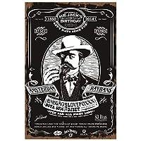 ウイスキーアイスコールドレトロメタルティンサインホームバーパブカジノ装飾プレートウォールステッカーアートポスター-20x30cm