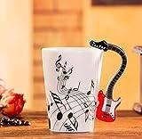 400Ml Tazza Di Musica Creativo Violino Stile Chitarra Tazza Di Ceramica Tazza Di Caffè Tazza Di Tè Per Uso Domestico Tazza Di Caffè Al Latte Con Manico Romanzo Regalo Nota Tazza Tazza D'Acqua-D